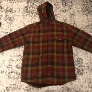 Wolverine plaid button up jacket with fizz lining